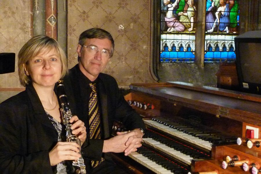 Béatrice Berne (clarinettiste) et François Clément (organiste)